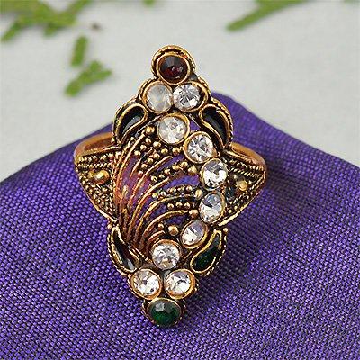 Fancy Golden Diamond Ring for Gift to Loved Ones