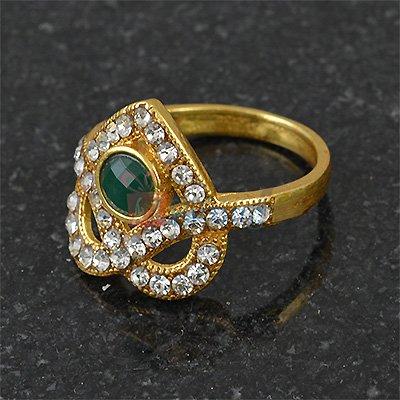 Stylish Heart Shape Diamond Studded Ring
