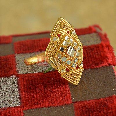 Fancy Work Cut Stylish Fancy Ring