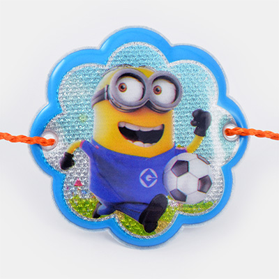 Minion Playing Football Rakhi for Kids
