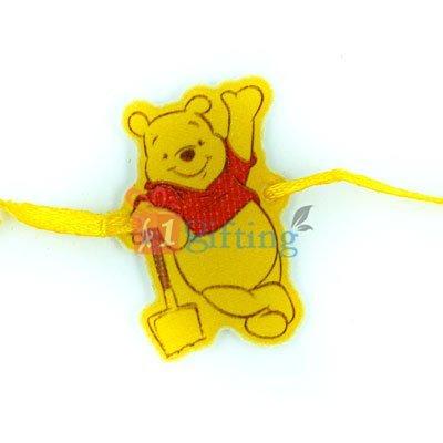 Pooh - Working Pooh TV Cartoons Character Rakhi for Children