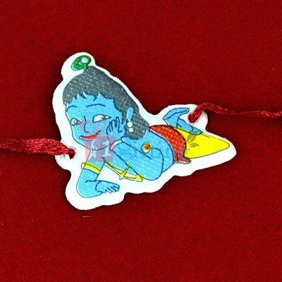Little Krishna Kids Rakhi for Children - Wearable on Wrist