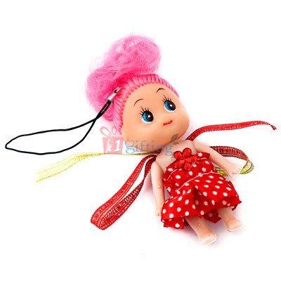 Red key chain Rakhi of baby Cinderella