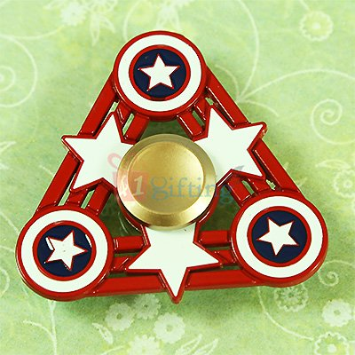 Triangle Star Captain America Metalic Superb Spinner