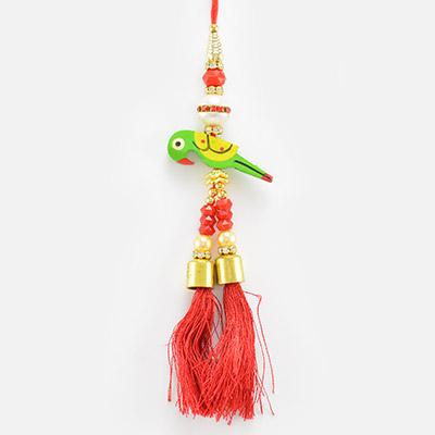 Amazing Wooden Parrot Lumba Rakhi