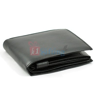 Triple Folding Wallet for Men with Closing Strap