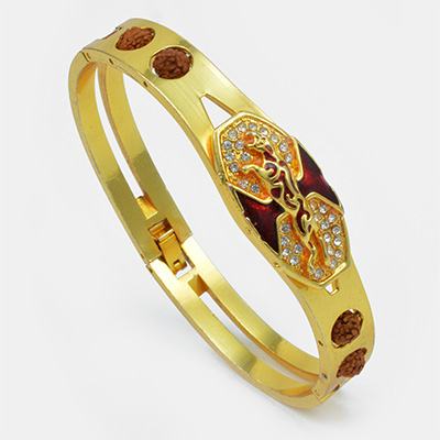 Red and Golden Color Jaguar Bracelet Rakhi