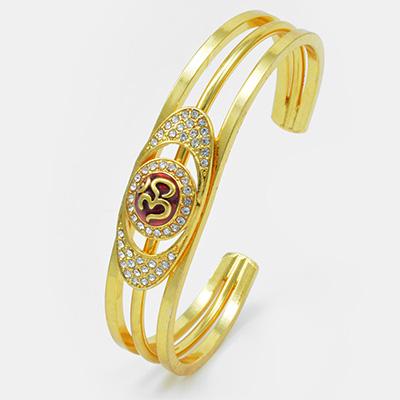 Om Designer Studded Diamond Bracelet Rakhi