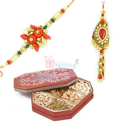 Send Rakhi with Dry fruits to USA