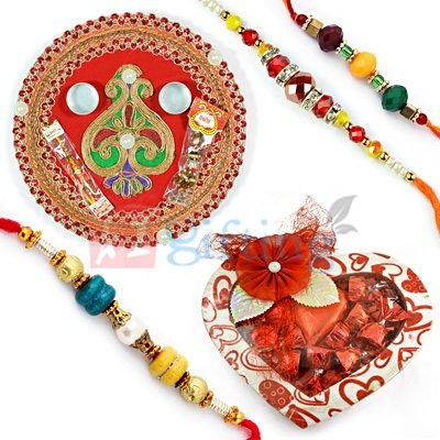 Chocolate Rakhi Thali Hampers United States Online