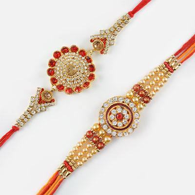 Diamonds Everywhere Rakhi Set