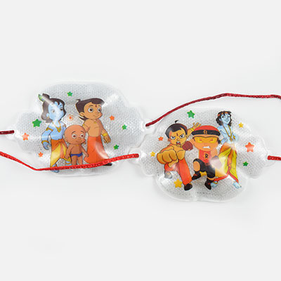 Twin Kids Rakhi Set of Chhota Bheem and Kanha