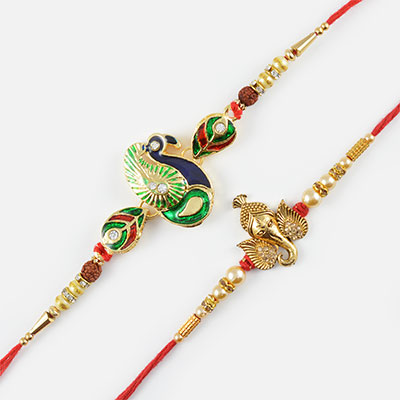Exclusive Maurya and Ganpati Rakhi Set of 2