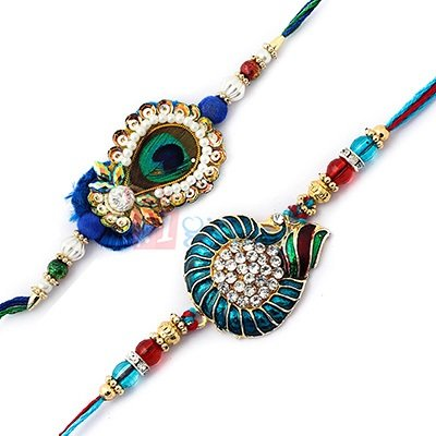 Set of 2 Rakhi for USA