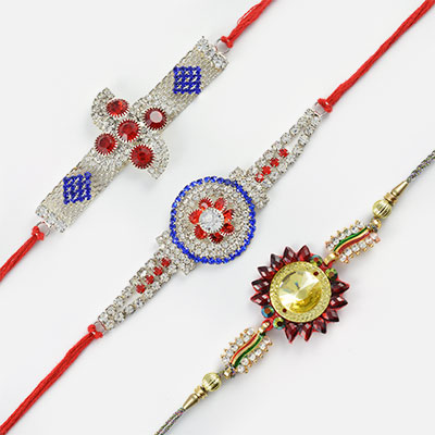 Diamonds Everywhere Rakhi Set of 3