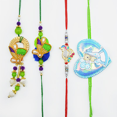 Set of 4 Rakhi for Canada