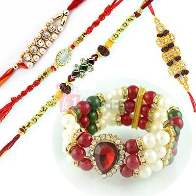 Buy Rakhi Sets to USA