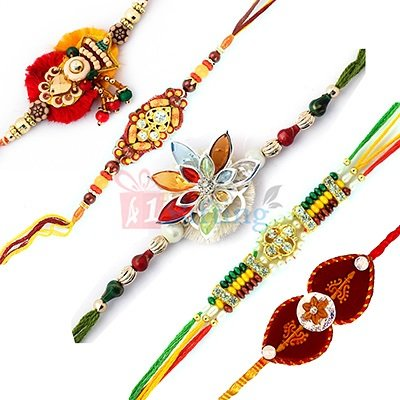Online Set of 5 Rakhi