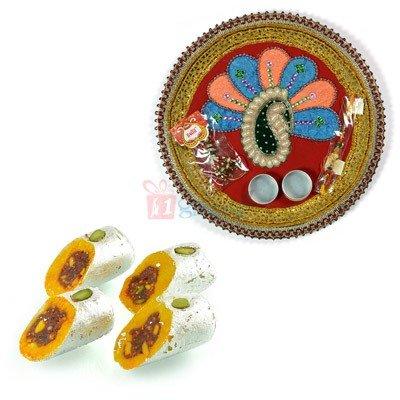 Rakhi Thali with Sweets Online