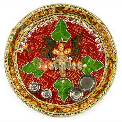 Vighna Vinayak Rakhi Pooja Designer Thali