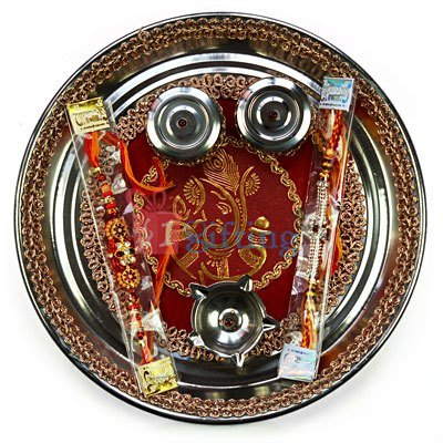 Buy Rakhi Puja Thali to for USA