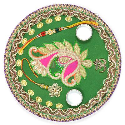 Wonderfully Crafted Rakhi Pooja Thali