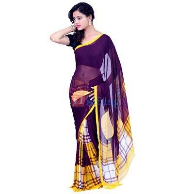 Light Weight Georgette Patli Pallu Saree