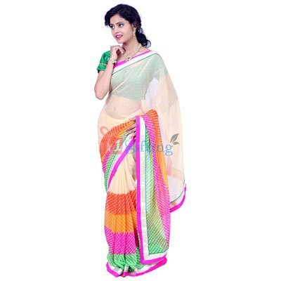 Chiffon Georgette Mothda Saree