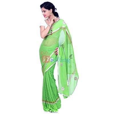 Traditional Pure Georgette Gota Patti Saree