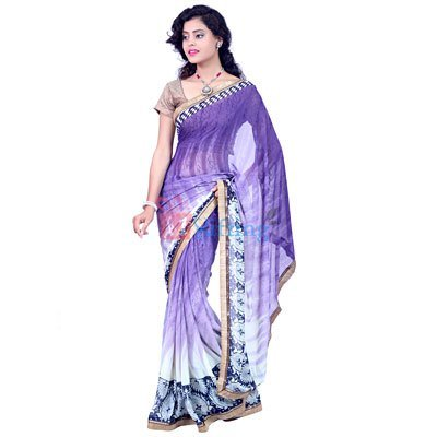 Light Wieght Georgette Fancy Saree