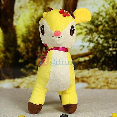 Deer Soft Toy in Yellow and White