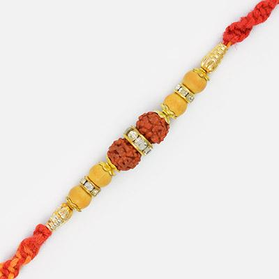 Rudrakshtkam Diamond Ring Rakhi Thread