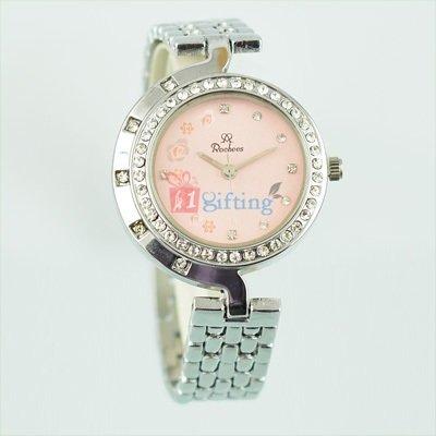 Fancy Branded Wrist Watch for Women Diamond Fitted Bracelet Silver Strap