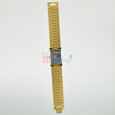 Golden Square Wrist Watch for Men Metal Strap Official Watch
