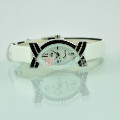 Fast Track Fancy Watch for Women with Leather Strap
